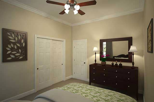 Secondary bedroom / Private study with double doors